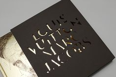 Book sleeve for the LOUIS VUITTON / MARC JACOBS book, incorporating the specially designed typeface.