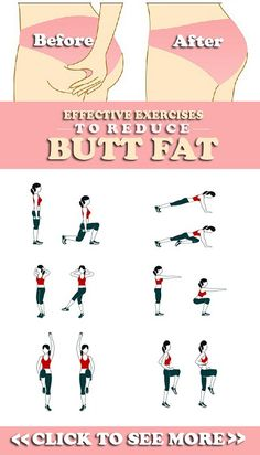 8 Effective Exercises To Reduce Butt Fat