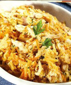 Frango à Brás é a receita ideal, para fugir à rotina do bacalhau à Brás. Veja como fazer esta receita de frango à Brás de forma simples e apetitosa! Confira a nossa receita e deixe-nos a sua opinião.