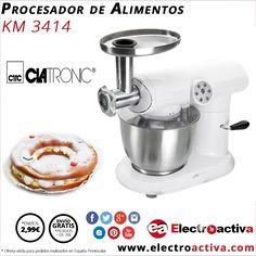 ¡¡Prepara tus recetas favoritas cómoda y sencillamente!! Procesador de Alimentos CLATRONIC KM3414 http://www.electroactiva.com/clatronic-procesador-de-alimentos-km3414.html #Elmejorprecio #ProcesadordeAlimentos #Electrodoméstico #PymesUnidas