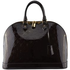 99f53895d347 Pre-Owned Louis Vuitton Alma GM Amarante Vernis Leather ( 2