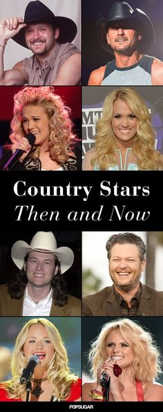See pics of your favorite country singers, then and now!