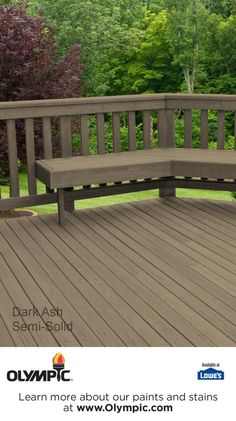 DARK ASH is a part of the Olympic Elite Colors - Semi-Solid collection by Olympic® Stains.