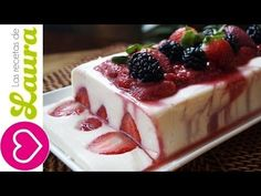 Gelatina de Yogurt con Salsa de Fresas ♥ Yogurt Jello with Strawberry Jelly ♥ DIY Día de la Madre - YouTube