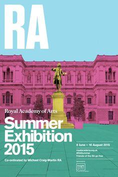 Michael Craig-Martin: Summer Exhibition 2015 Royal Academy poster, Courtesy Royal Academy of Arts -- Event Flyer Ideas & Templates Simple Poster Design, Creative Poster Design, Creative Posters, Graphic Design Posters, Graphic Design Inspiration, Event Poster Design, Poster Designs, City Poster, Poster Art