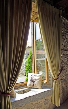 A lovely window seat perfect for relaxing and enjoying the French countryside.