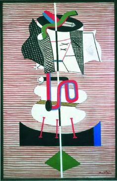 'Radio Tubes (Still Life Radio Tube)' by Stuart Davis, 1931