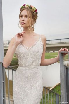64 Romantic Spaghetti Strap Wedding Gowns | HappyWedd.com