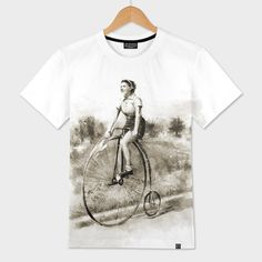 Discover «Woman on bicycle», Exclusive Edition Men's All Over T-Shirt by Claudio Tosi - From 41€ - #curioos #inspiration #artist #illustrator #photoshop #art #artwork #photooftheday #TShirt #Fashion #illustration #digitalart #creativity #creative #digital #visualart #artprint #graphic #design #graphicdesign #Handmade