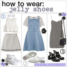 htw; jelly shoes