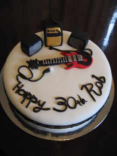 Guitar music birthday cake Pinteres