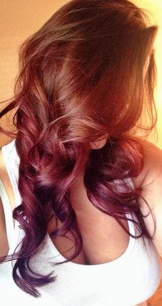 #hair #red #darkred #ombre #ombrehair #darkredhair #darkredombre #cute #longhair #curly #curlyhair #prettyhair #summerhair #haircolors #girly Vibrant Red Hair, Girly, Hair Color, Colored Hair, Long Hair Styles, Beauty, Women's, Colorful Hair, Haircolor