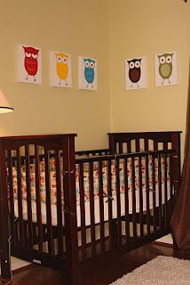 It matches Isaiah's room! How to sew a crib bumper