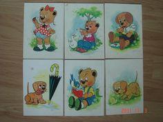 Pohľadnice s kreslenými medvedíkmi Retro Toys, Socialism, Hungary, Postcards, Nostalgia, Memories, Dolls, History, Sweet