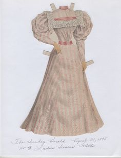 No 4 Ladies' Summer Toilette from The Boston Sunday Herald April 21 1895 | eBay
