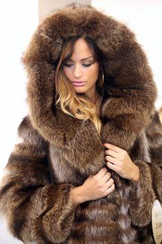 hooded raccoon fur coat   eBay
