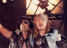 Axl with Alice Cooper