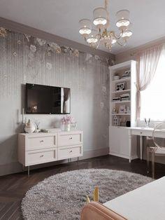 ДИЗАЙН СТУДИЯ А+Б Study Room Decor, Chic Bedroom Decor, Bedroom Decor, Kids Bedroom Decor, Kids Room Design, Paint Colors For Living Room, Bedroom Interior, Remodel Bedroom, Luxurious Bedrooms