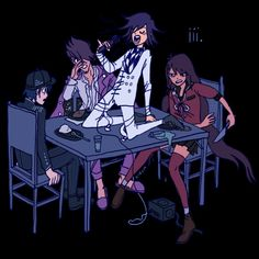 Danganronpa Memes, Danganronpa Characters, Anime Characters, Fictional Characters, Ouma Kokichi, Nagito Komaeda, Fanarts Anime, Awesome Anime, Kaito