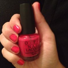 OPI Dutch Tulips. Beautiful Spring Color. Raspberry Pink
