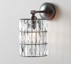 PB Classic Sconce – Adeline Crystal #potterybarn