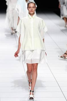 Issey Miyake Spring 2014 Ready-to-Wear Collection Slideshow on Style.com Look 40 - and yellow grass green...