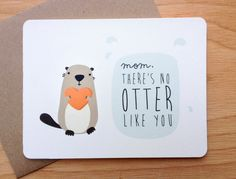 Frank the Otter - Mother's Day card