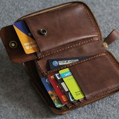 Genuine Leather wallet Men bifold by FocusmanLeather on Etsy