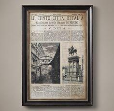 Vintage Italian Newspaper - Venezia Full Cover
