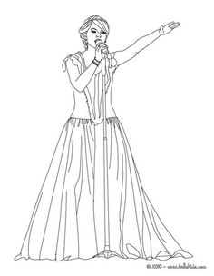 beautiful taylor swift coloring page you will love to color a nice coloring page enjoy coloring this beautiful taylor swift coloring page for free - Taylor Swift Coloring Pages