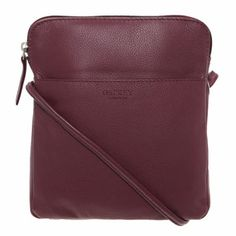 81de318084 Osprey London Burgundy Leather Cross Body Bag