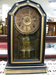 1880 S E N Welch Briggs Rotary Pendulum Clock Original