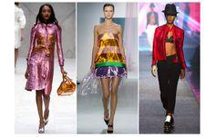 Vu sur les podiums des défilés Burberry Prorsum, Christian Dior ou Jean Paul Gaultier,l'effet irisé et sesrefletsmiroitants donnent le ton l'été prochain.Une tendance éclatante à porterentrench comme chez Burberry, en robe bustier comme chez Dior ou sur une veste façon biker chez Gaultier.