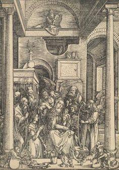 Прославление Марии - Немецкая гравюра