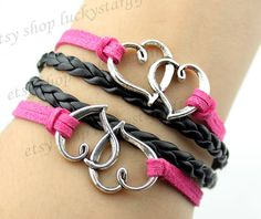 Couple double heart jewelry fashion bracelet with by luckystargift, $4.19