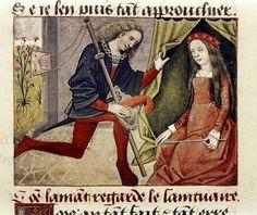 L'AMANTE RITROVATA Miniatura tratta dal 'Roman de la Rose' (fine XV secolo), Bodleian Library, Oxford. Folia Magazine.