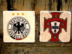 Germany vs. Portugal Germany Vs, Cup Coaster, Euro, Coasters, Portugal, Creations, Handmade, Hand Made, Craft