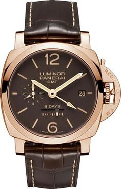 afc086a7b78 Panerai luminor 1950 8 days gmt oro rosso pam00576