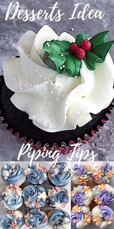 Cupcake Decorating Tips, Cake Decorating Frosting, Cake Decorating Techniques, Cookie Decorating, Christmas Sweets, Christmas Cooking, Christmas Cakes, Xmas, Holiday Cakes