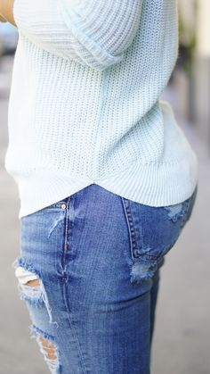 b19cdca54eced Lighter jeans and fun colored sweaters, a sign that warm weather is near.  Dziura