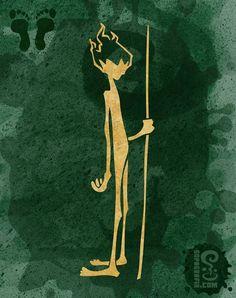 Poster CURUPIRA - FOLCLORICOS | SOPA Grafix | Elo7
