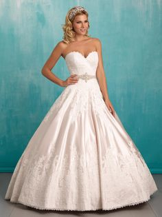 15801250e20 Allure Bridals 9303 Love top detail and sash Wedding Dress Styles