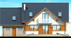 DOM.PL™ - Projekt domu DN KARMELITA GOLD 2M CE - DOM PC1-56 - gotowy koszt budowy Micro House, House Plans, House Design, Cabin, Mansions, House Styles, Thailand, Home Decor, Country Houses