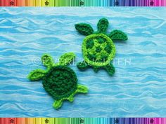 Turtle or Sea Turtle Applique  CROCHET PATTERN PDF by EverLaughter, $4.95