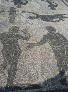 #Ostia Terme di Porta Marina.  Mosaico degli atleti (part.) City Photo, Snow, Outdoor, Outdoors, Outdoor Living, Garden, Eyes
