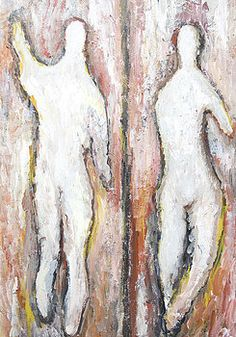 Kazuya Akimoto - White Silhouettes of New Adam and Eve. http://fineartamerica.com/profiles/kazuya-akimoto.html?tab=artworkgalleries