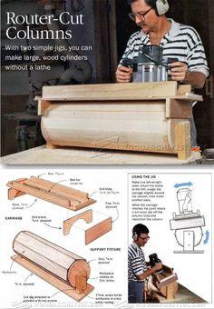 Router Cut Columns - Woodworking Tips and Techniques | WoodArchivist.com