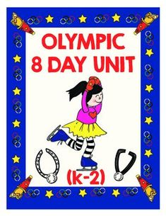 This bundle is an 8 Day Olympic Unit for K-2.  It encourages friendship and teamwork while also emphasizing math, alphabet and graphing skills.  This 155 page download includes all of the items in our individual Olympics packets plus lessons plans, activities and more  (see preview table of contents for a more detailed list or download the preview file for samples and a free Olympic torch frame):Lesson plans for an 8 day unit - a prep day, an opening ceremony (including a craft for making…