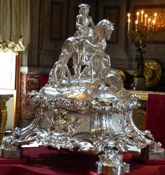 Silver Centrepiece at Blenheim by Robert Garrard & co