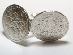 1930 Sixpence Cufflinks 85th birthday.  by OldCoinCufflinks